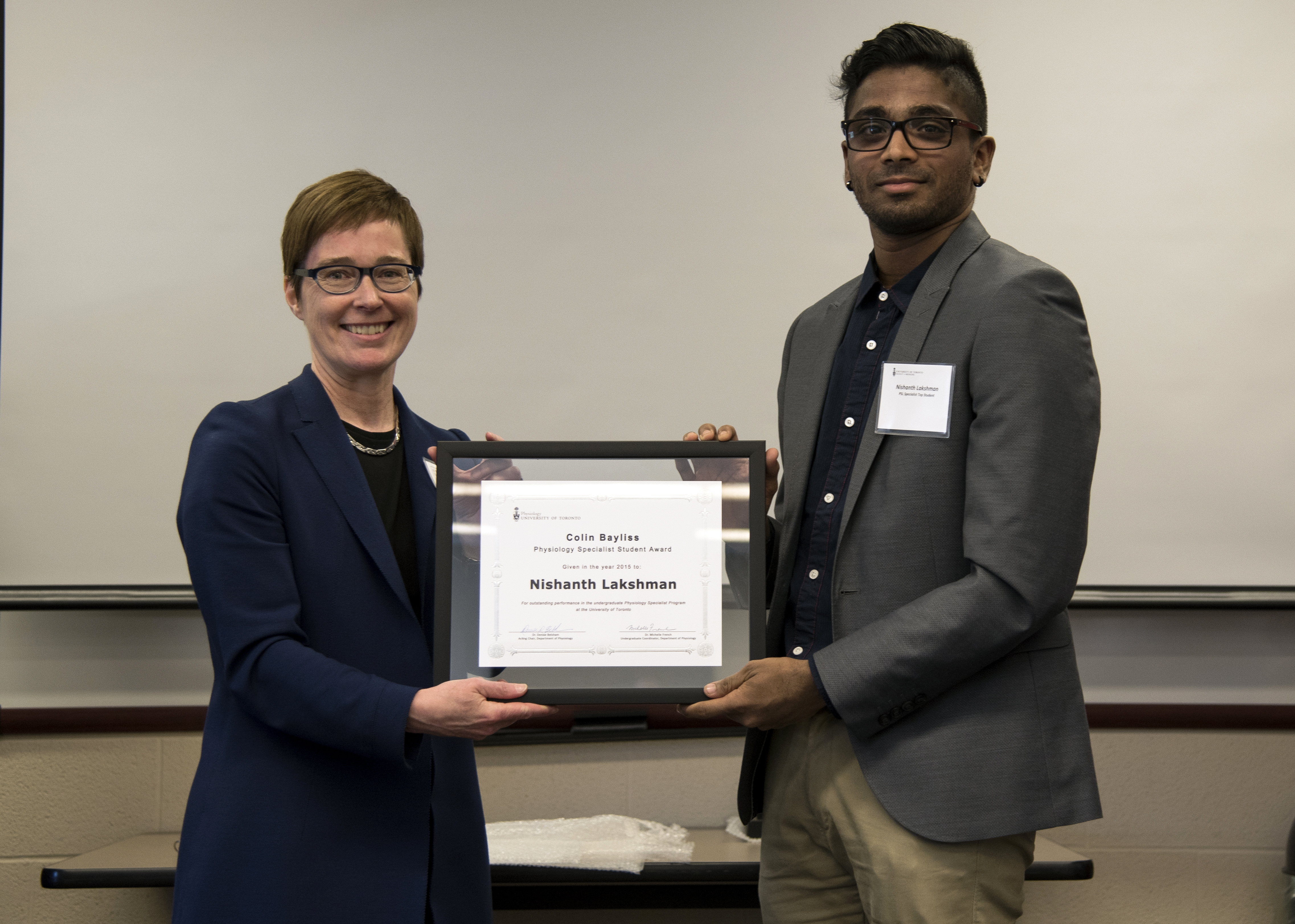 Dr. Michelle French and Nishanth Lakshman