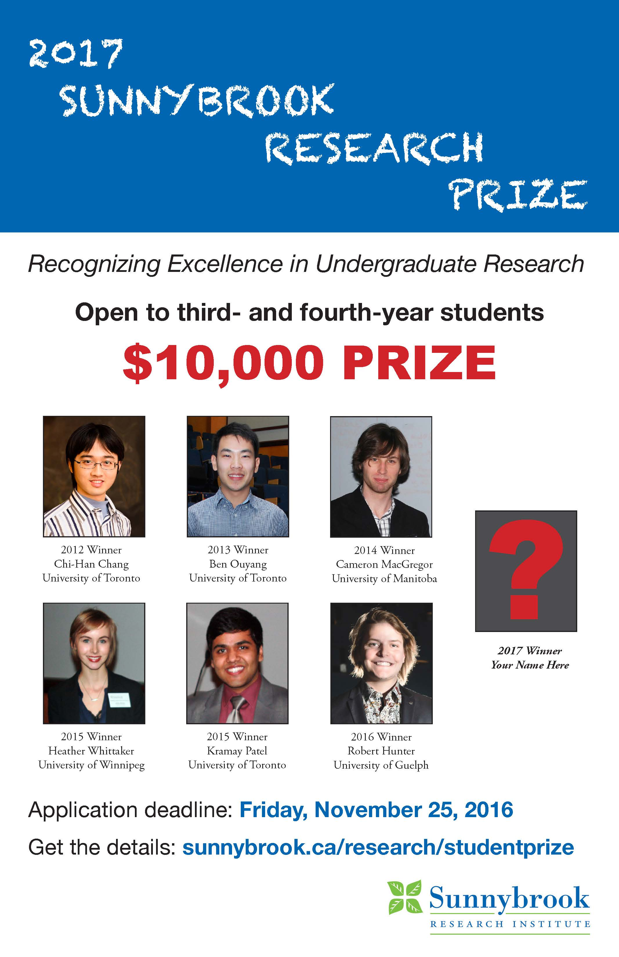 Sunnybrook Research Prize
